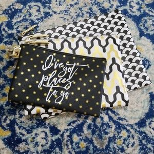 Dabney Lee Travel Pouches Set of 3 Top Zip Bags